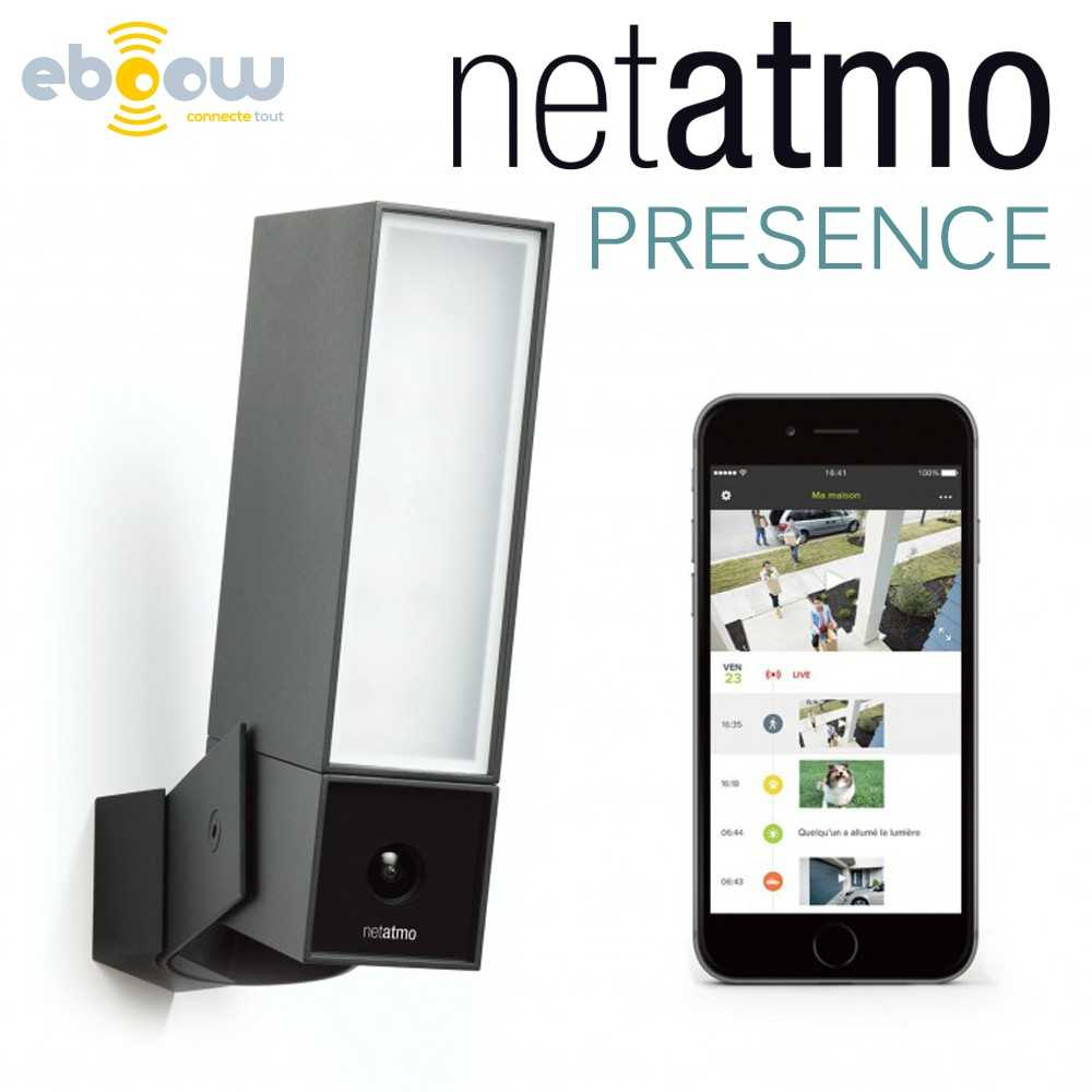 netatmo presence cam ra de s curit et lumi re connect e d 39 ext rieur. Black Bedroom Furniture Sets. Home Design Ideas