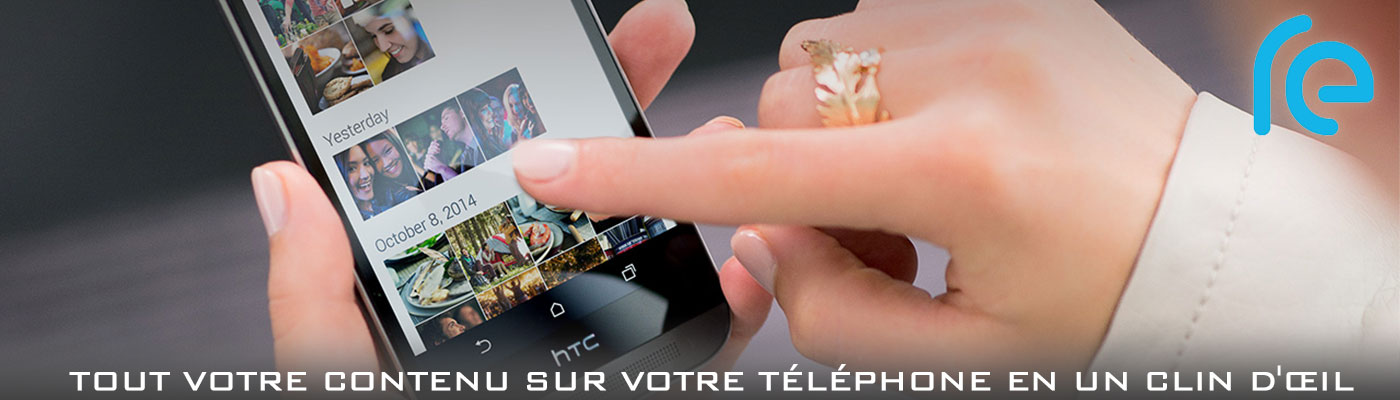 Caméra connectée HTC Re application mobile
