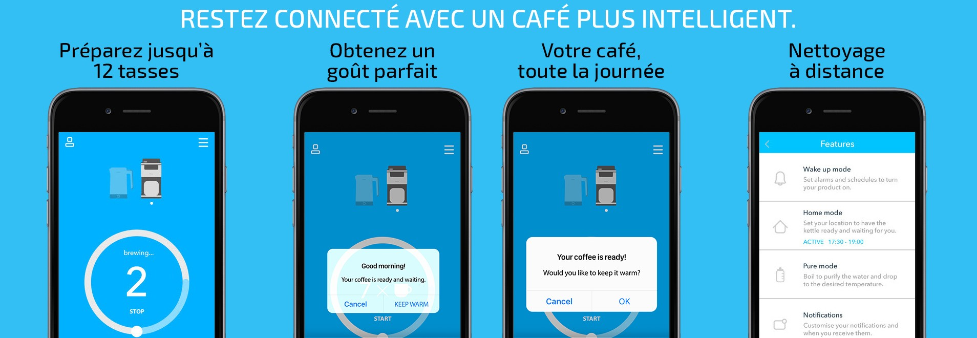 Machine à café connectée Smarter Coffee application mobile