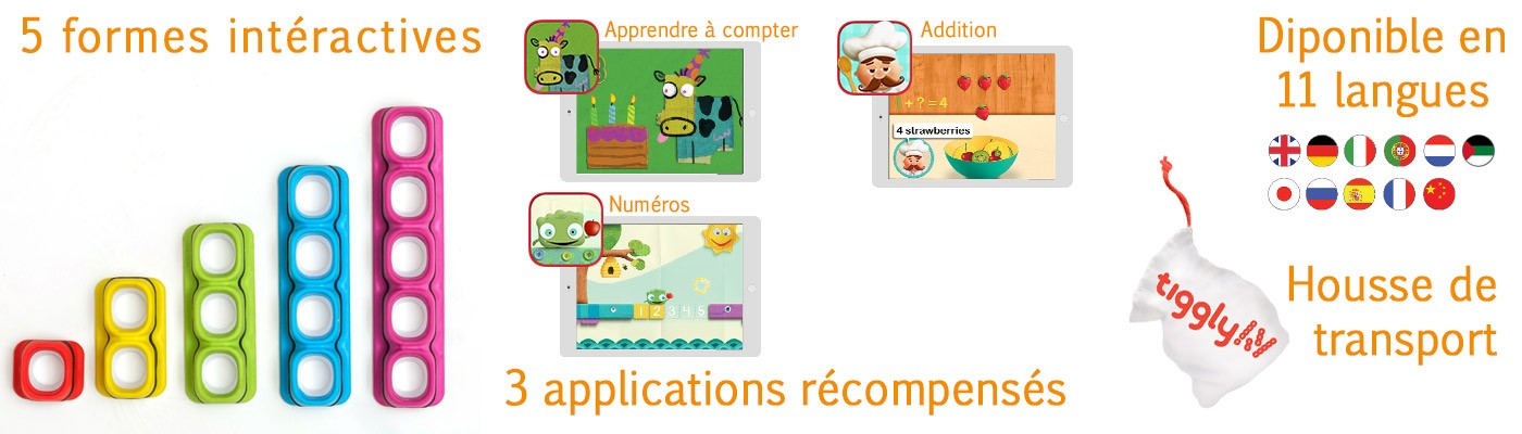 Tiggly Math jouet éducatif connecté application tablette