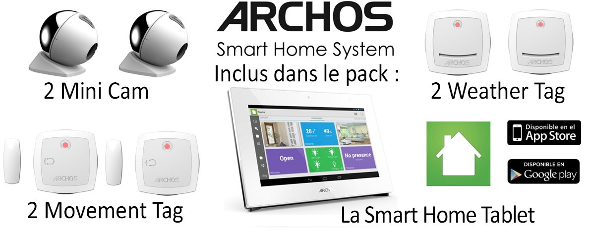 Archos Smart Home scenario domotique détail du pack