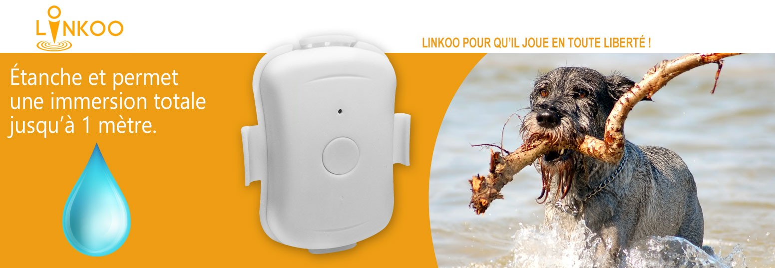 Linkoo Pets balise tracker geolocalisation pour chien et chat