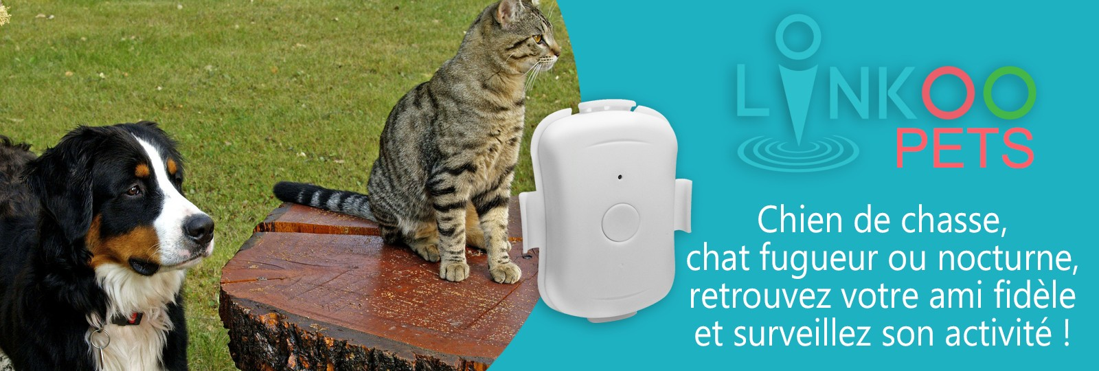 Linkoo Pets balise tracker GPS pour chien et chat
