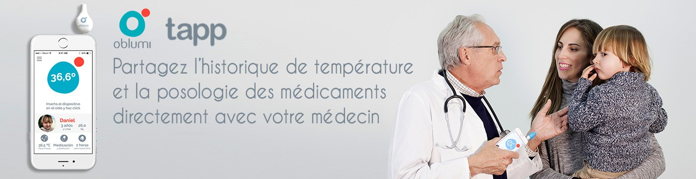Thermomètre connecté infrarouges Oblumi Tapp