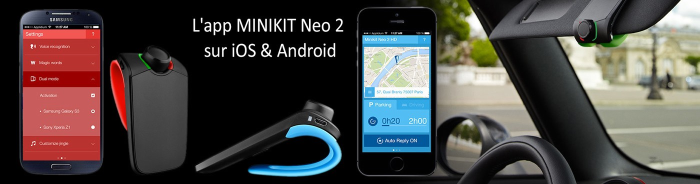 Parrot Minikit Neo HD 2 application mobile Android et Apple