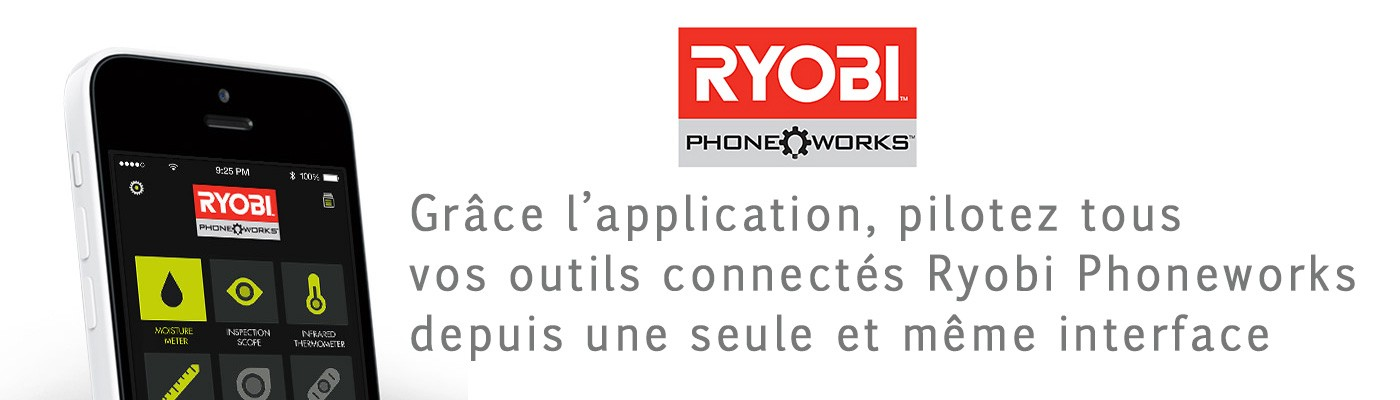 Ryobi Télèmètre Laser Phone Works application mobile