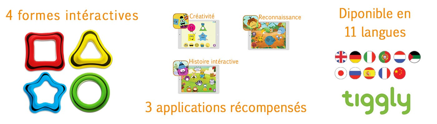 Tiggly Shapes jouet éducatif connecté application tablette