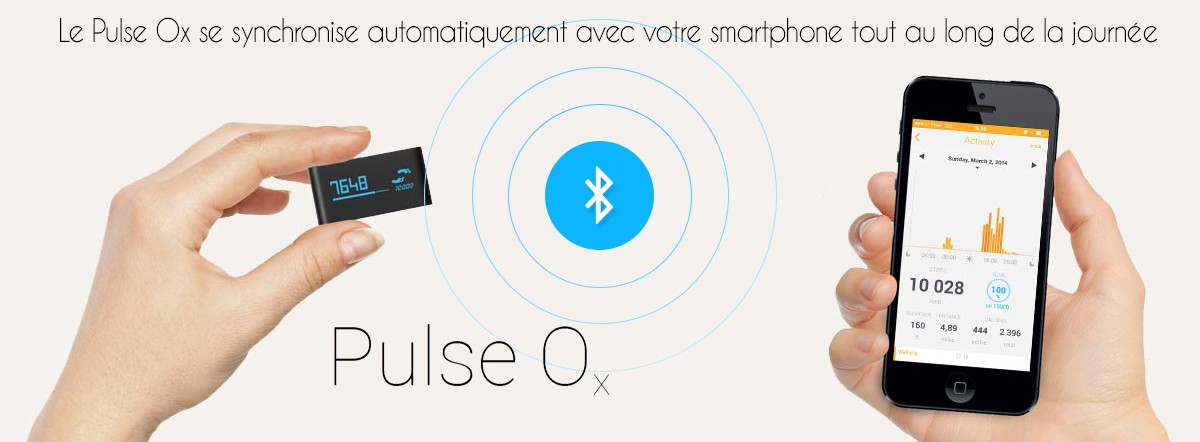 Withings Pulse OX bracelet connecté synchronisation