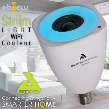 Ampoule connectée Wi-fi et Haut parleur Striimlight Color de Awox